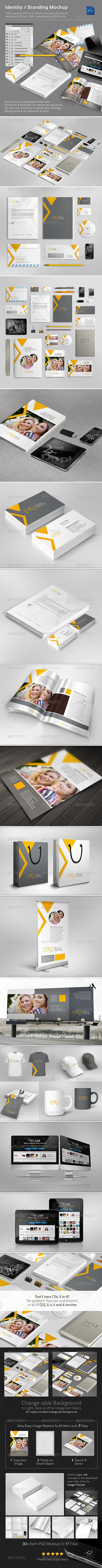 GraphicRiver Identity Branding Mock-Ups 4575751