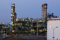 Oil and gas refinery at twilight - Petrochemical factory - PhotoDune Item for Sale