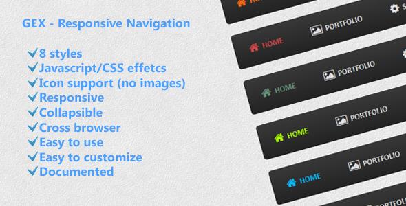 CodeCanyon GEX Responsive Navigation 4759455