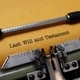 Last will and testament on typewriter - PhotoDune Item for Sale