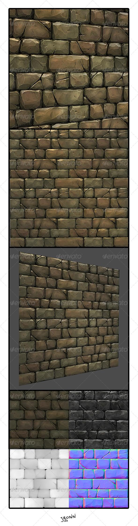 3DOcean Stone Wall Tile 01 4759650