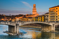 Bridge over Adige river in Verona, Duomo tower - PhotoDune Item for Sale