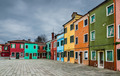 Colorful Burano channel view, Venice - PhotoDune Item for Sale