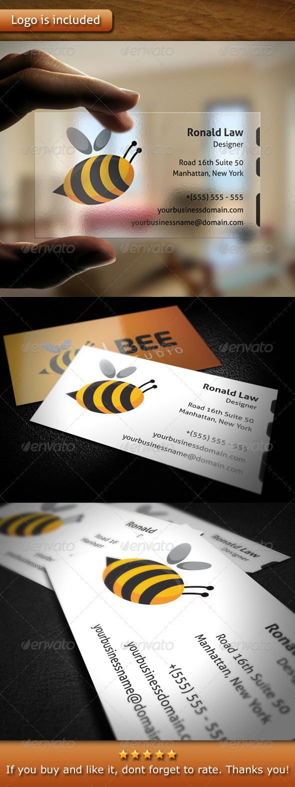 GraphicRiver Bee Studio Business Card 4761588