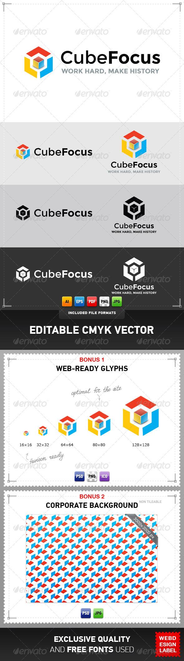 GraphicRiver Cube Focus Logo 4761801