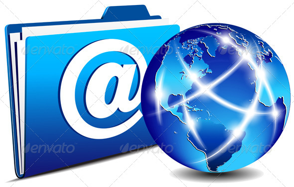 GraphicRiver Email Folder and Communication Internet World 4762070