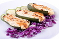 stuffed zucchini with tuna and cheese on white - PhotoDune Item for Sale
