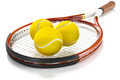 Tennis Racket with Tennis Balls - PhotoDune Item for Sale