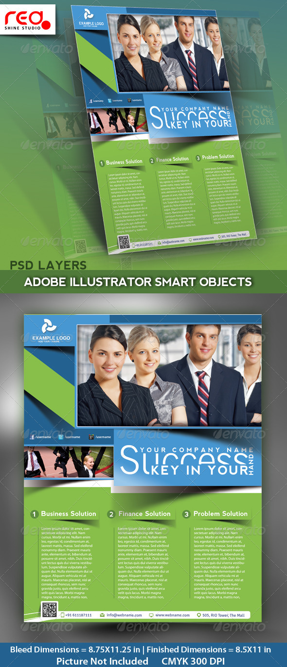 GraphicRiver Business Flyer Poster & Magzine Cover Template 4762313