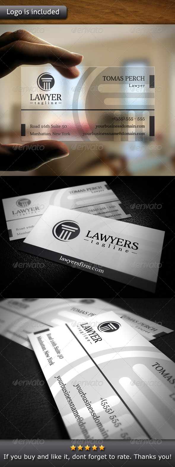 GraphicRiver Law Firm Logo Business Card 4762462
