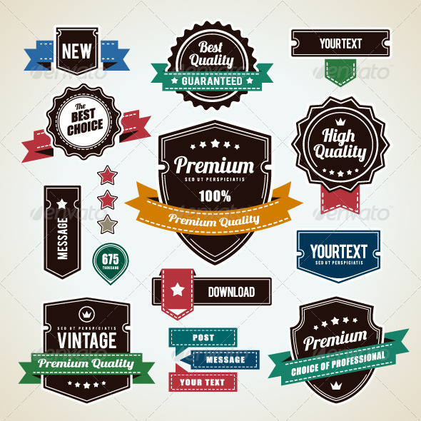 GraphicRiver Set of Vintage Badges 4762488