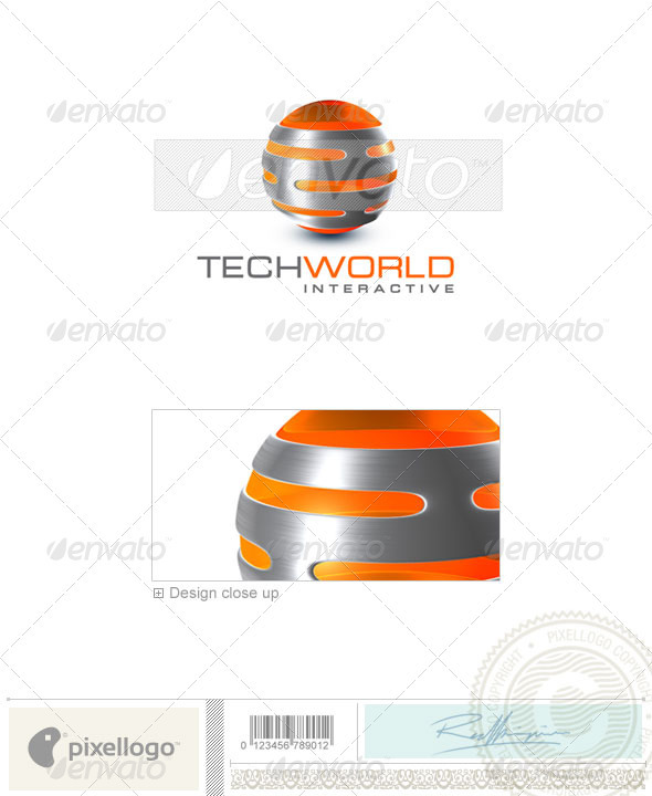Technology Logo - 3D-334 - 3d Abstract