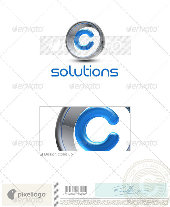 GraphicRiver C Logo 3D-288-C 496663