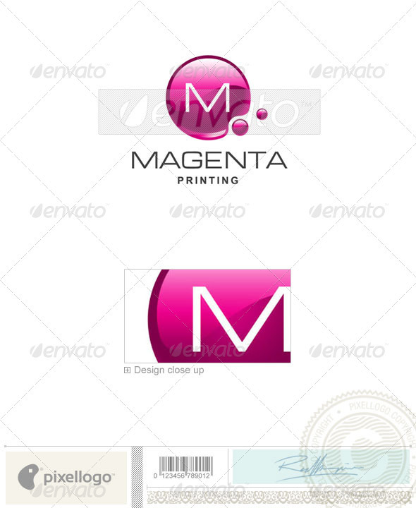 Print &amp; Design Logo - 1940 - Vector Abstract