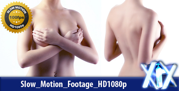 VideoHive Topless Woman Covering Breasts 4762990