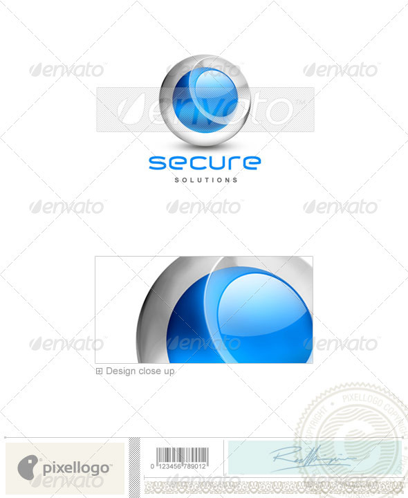 Secure Solutions Technology 3D Logo Template Design