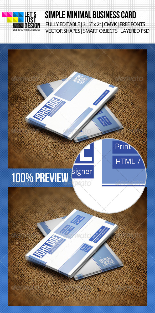 GraphicRiver Simple Professional Business Card 4690228