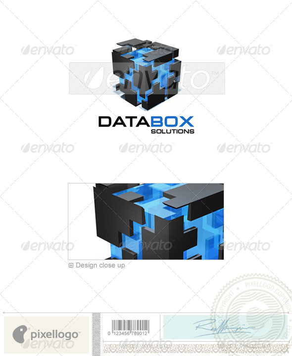 Technology Logo - 3D-255 - 3d Abstract
