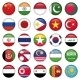 Asiatic Flags Round Icons - GraphicRiver Item for Sale