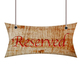 Wooden sign of reserved. - PhotoDune Item for Sale
