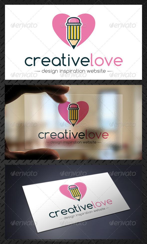 GraphicRiver Creative Design Love Pencil Logo Template 4763276