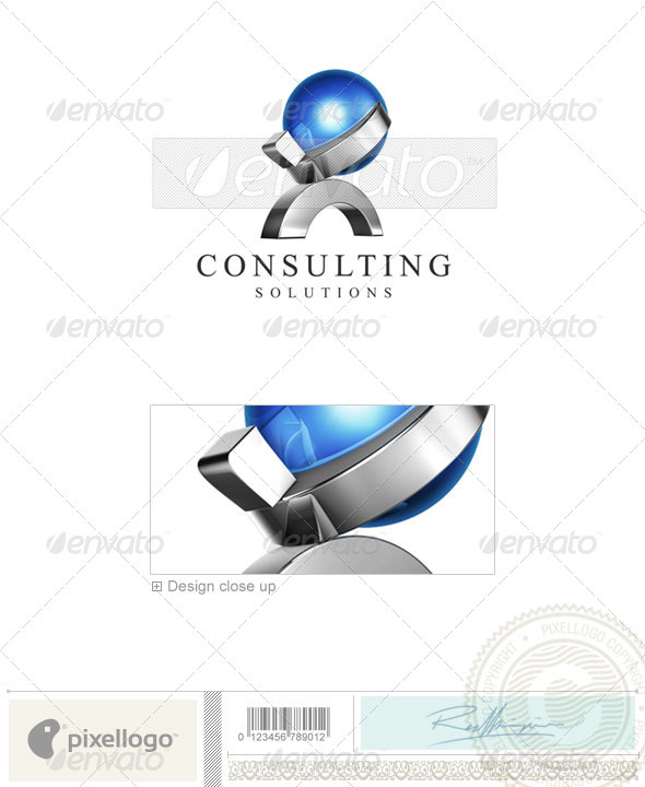Business &amp; Finance Logo - 3D-475 - 3d Abstract