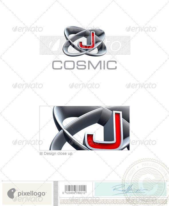J Logo 3d Logo - 3D-348-J...