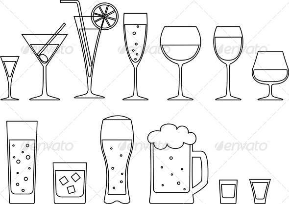 GraphicRiver Set of Drinks 4764265