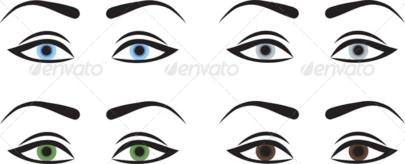 GraphicRiver Woman Eyes with Different Colors 4764292
