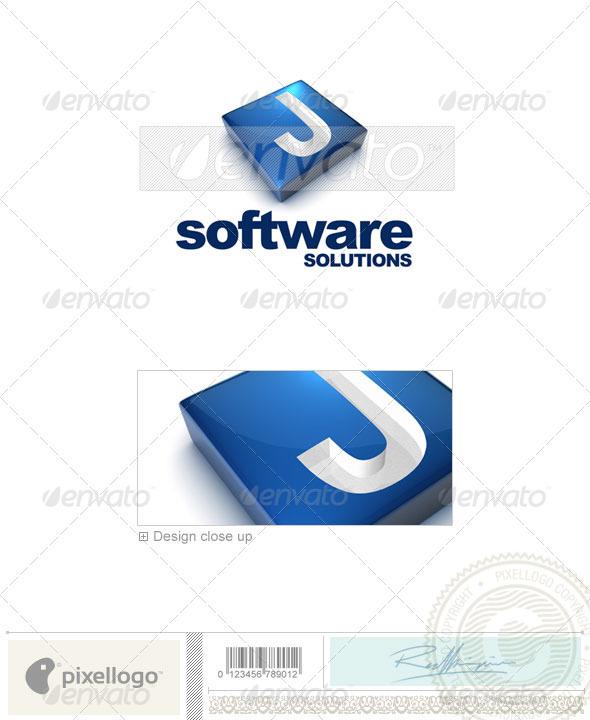 J Logo 3d Logo - 3D-644-J...