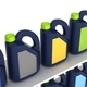 Jerrycans with car engine oil - isolated - PhotoDune Item for Sale