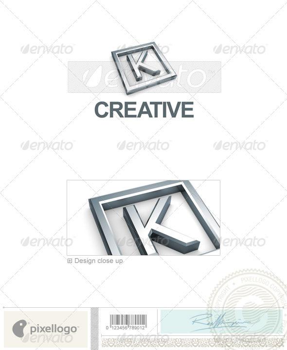 GraphicRiver K Logo 3D-295-K 497288