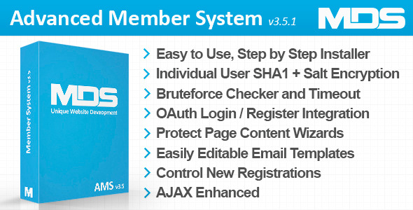Advanced Member System - CodeCanyon Item for Sale