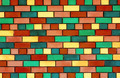 Colorful brick wall - PhotoDune Item for Sale