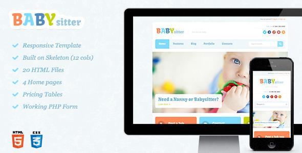 ThemeForest Babysitter Responsive HTML Template 4765302
