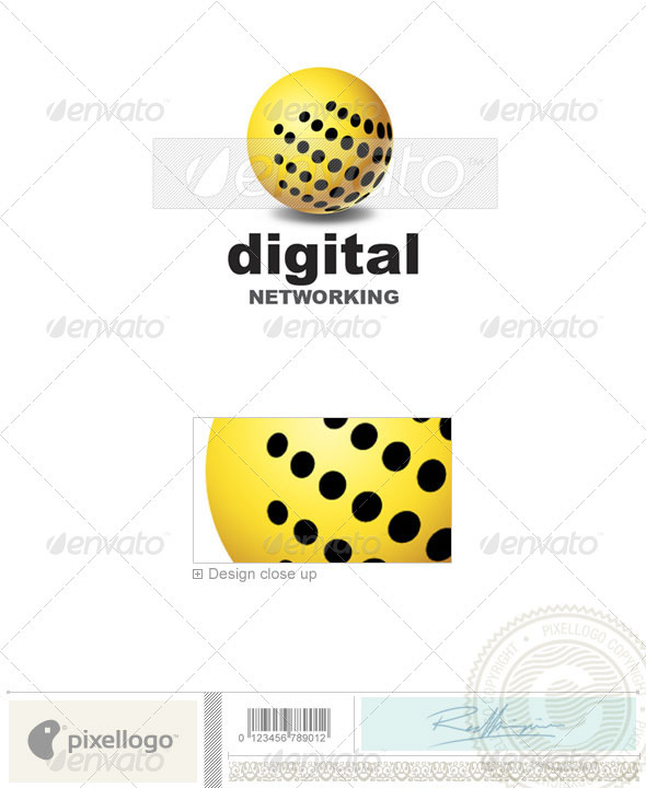 Communications Logo - 1308 - Vector Abstract