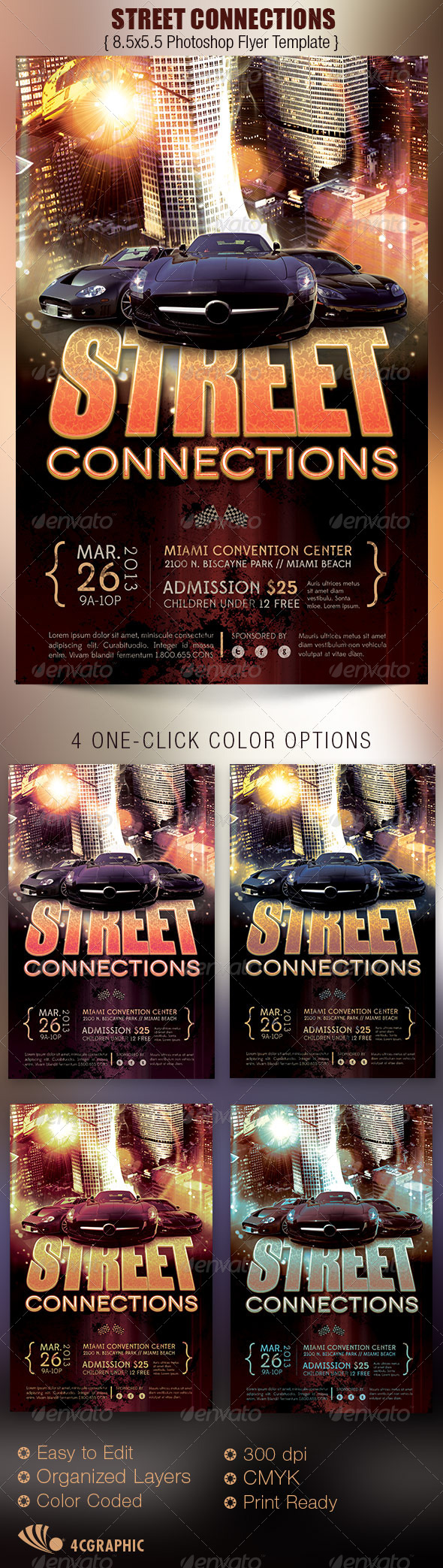 Street Connections Flyer Template - Sports Events