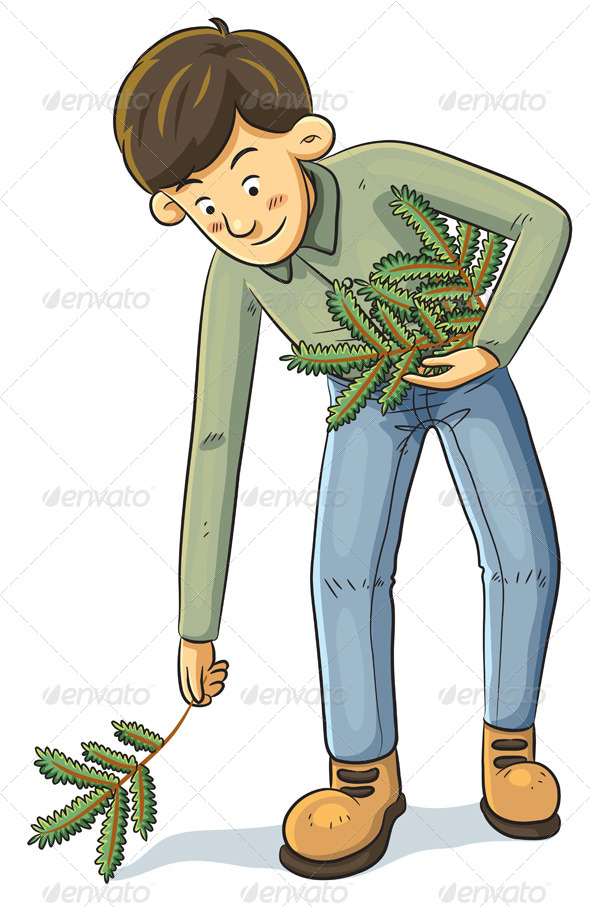 GraphicRiver Man Collecting Branch 4765946
