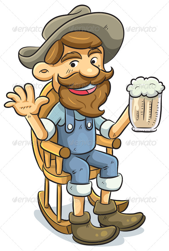 GraphicRiver Old Man Drinking a Beer 4765956