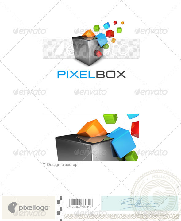 Print & Design Logo - 3D-373 - Logo sample