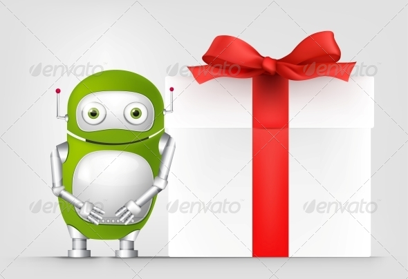 GraphicRiver Green Robot 4766129
