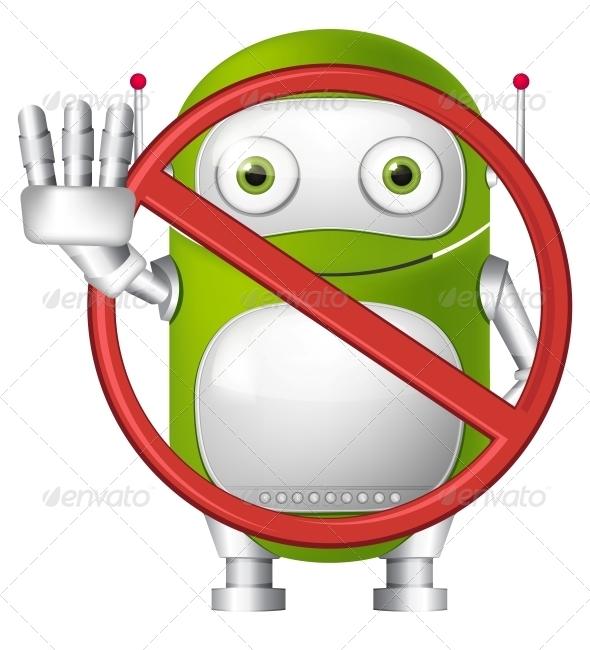 GraphicRiver Green Robot 4766175