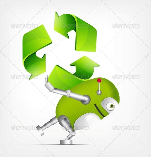 GraphicRiver Green Robot 4766179