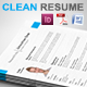 Gstudio Clean Resume Template - GraphicRiver Item for Sale