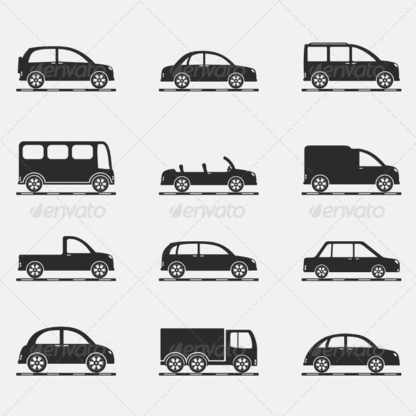GraphicRiver Car Icons 4766279