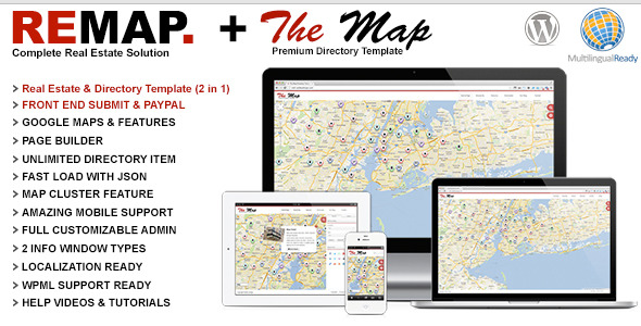 REMAP Real Estate & The Map Directory Theme