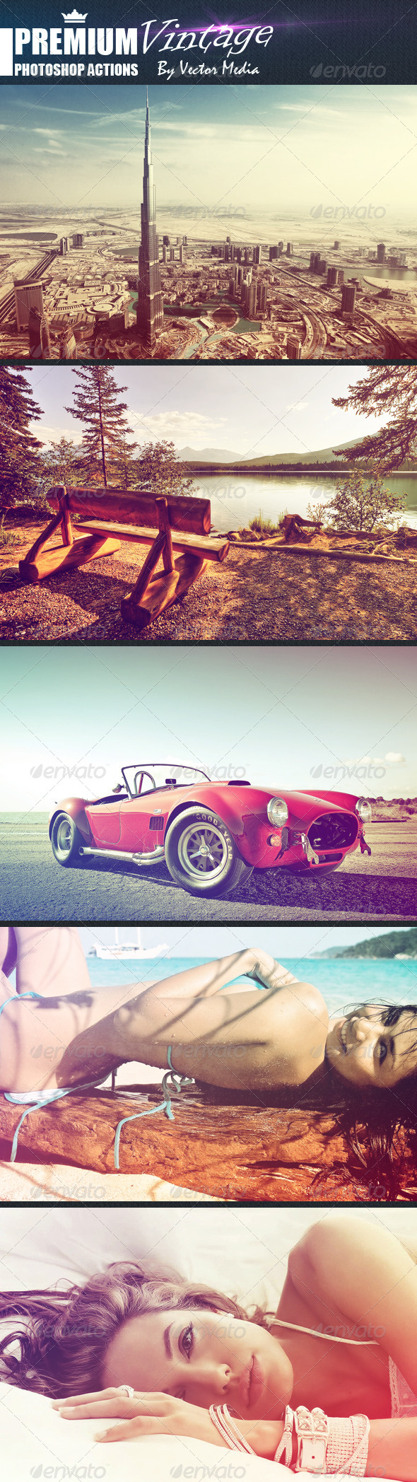 GraphicRiver Premium Vintage Photoshop Actions 4768101