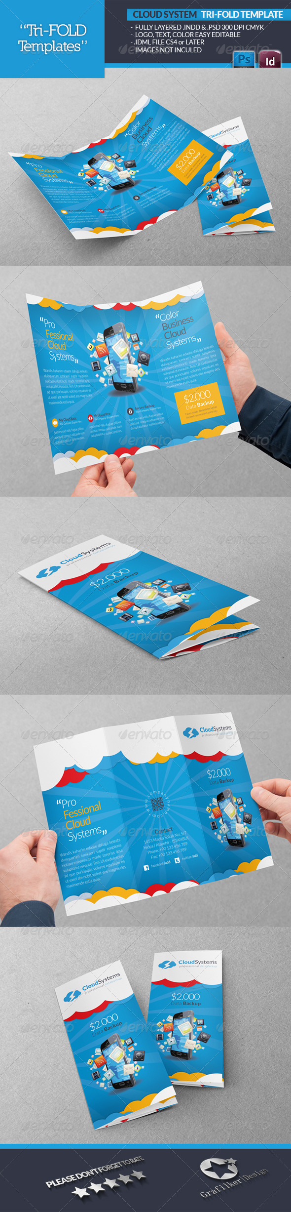 GraphicRiver Cloud Systems Tri-Fold Template 4701283