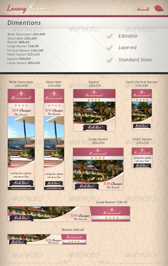 GraphicRiver Luxury Banners 4670381