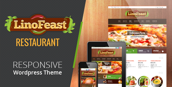 ThemeForest LinoFeast Restaurant Responsive Wordpress Theme 4762544